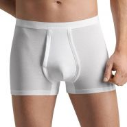 Cotton Pure Boxer with Fly - Men's-White-S
