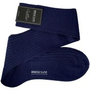 Cashmere & Silk Knee High Socks - Men's-Bluette 31559-41-42