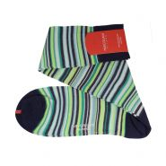 Sorrento Stripe Pima Cotton Lisle Knee High Socks - Men's