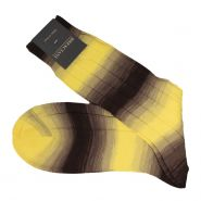Sunset Ombre Cotton Mid Calf Socks - Men's-Giallonero-43-44